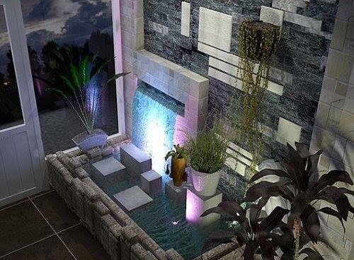 Tiểu cảnh thác nước trong nhà